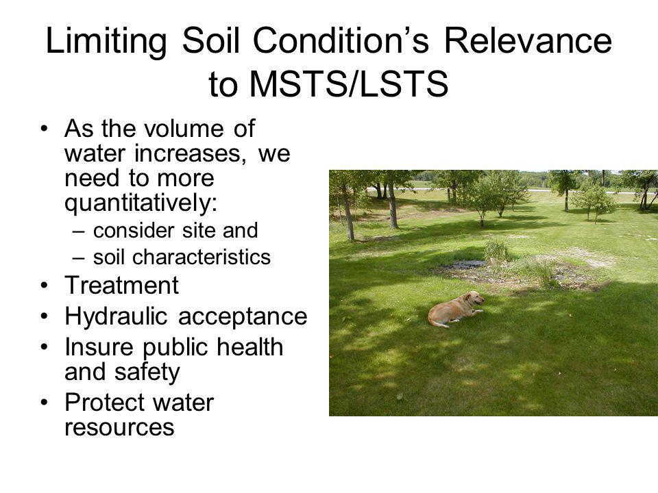 Limiting Soil Condition's Relevance to MSTS/LSTS