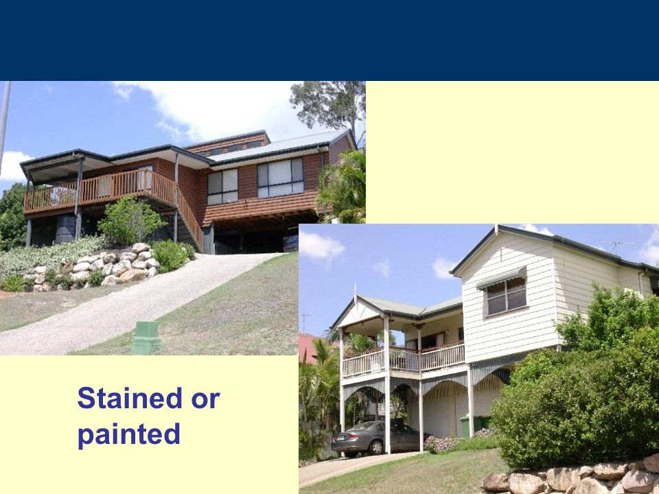 Stained or painted