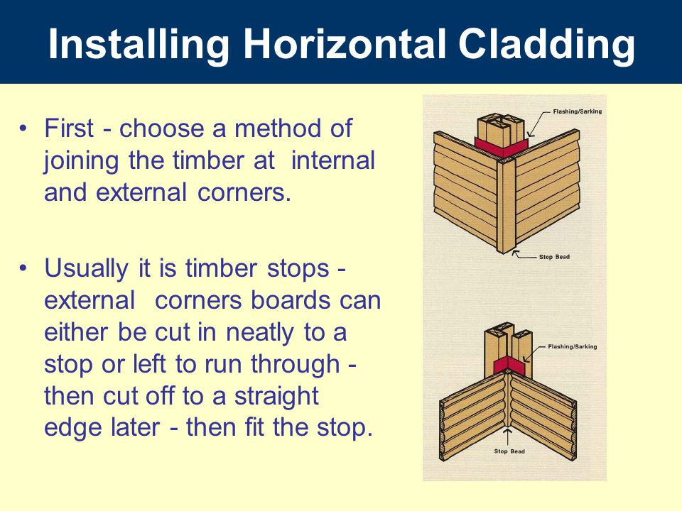 Installing Horizontal Cladding