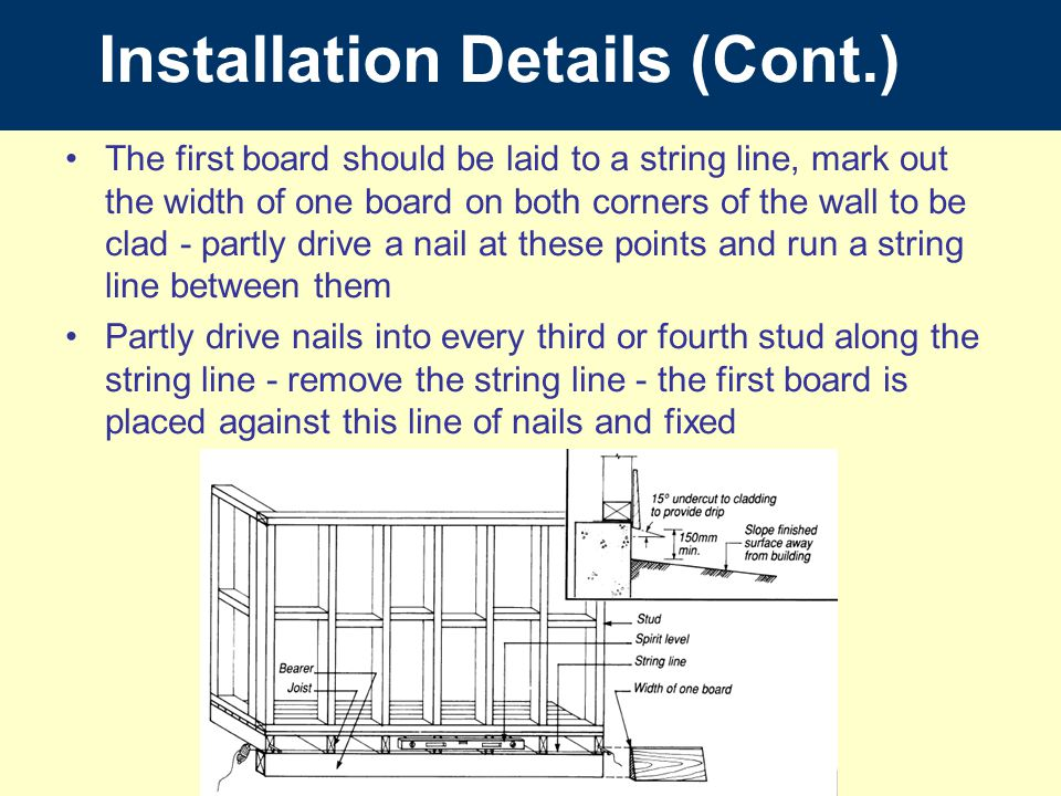 Installation Details (Cont.)