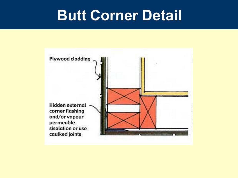 Butt Corner Detail