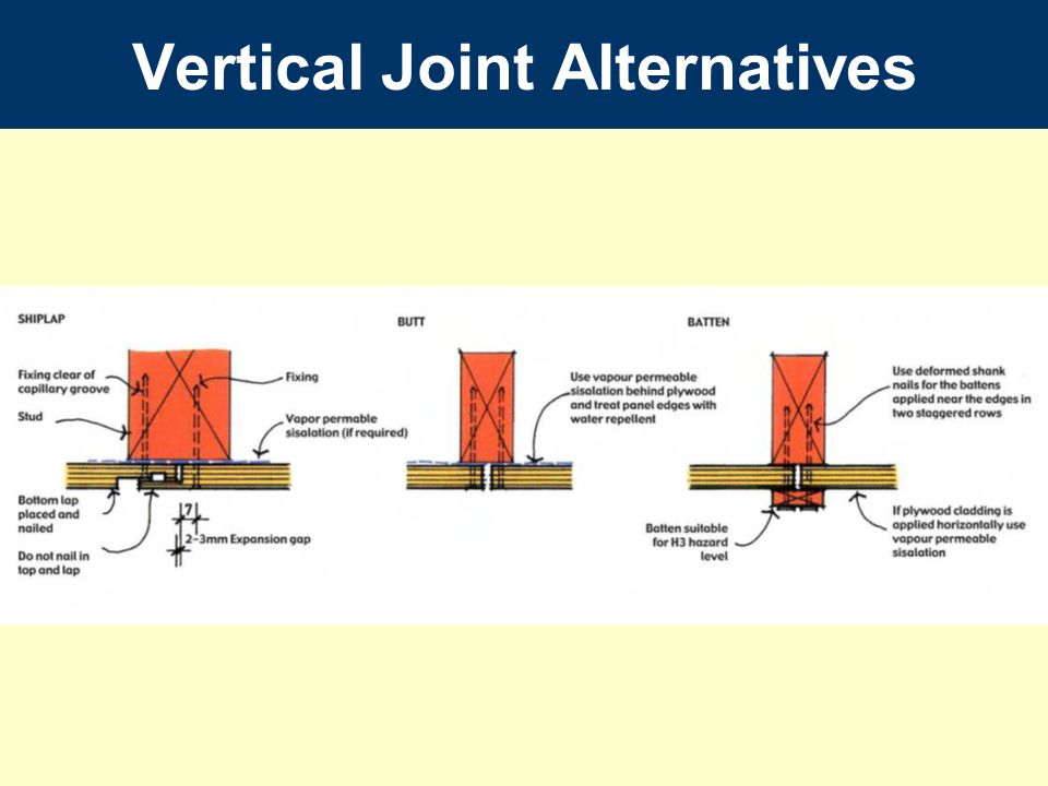 Vertical Joint Alternatives
