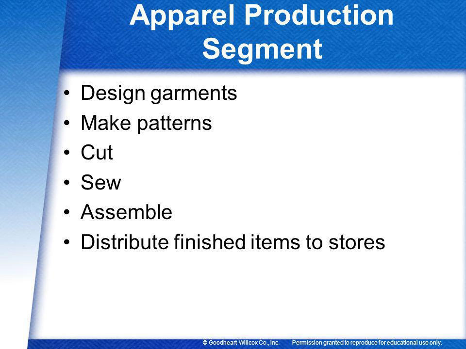 Apparel Production Segment
