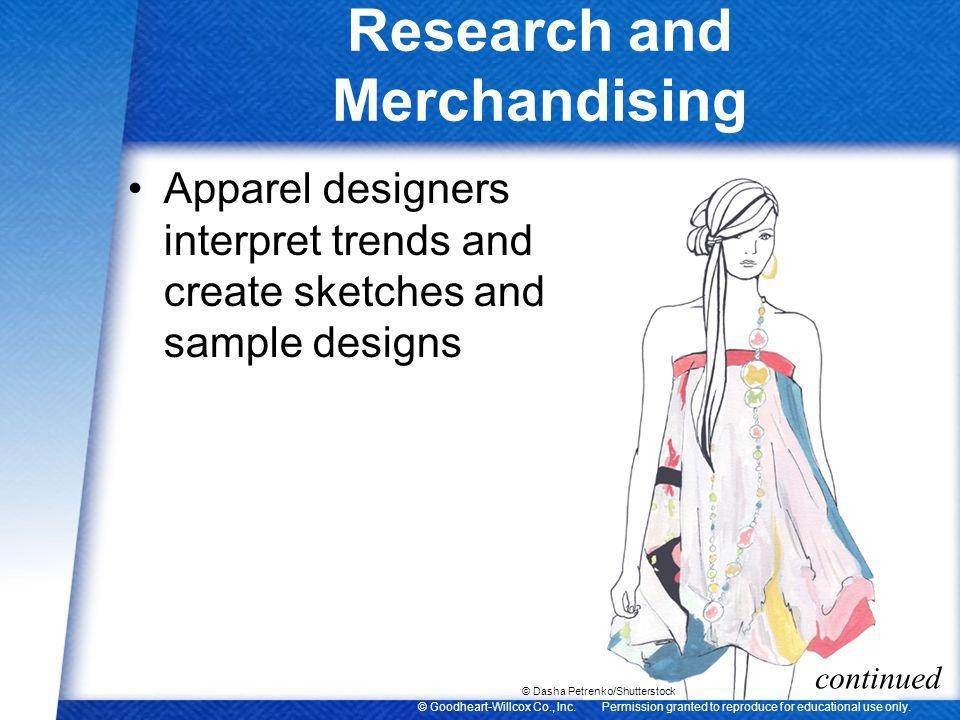 Research and Merchandising