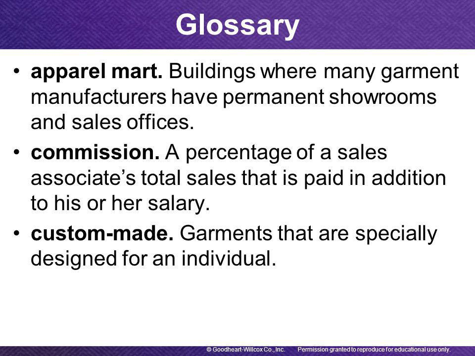 apparel mart. Buildings where many garment manufacturers have permanent showrooms and sales offices.