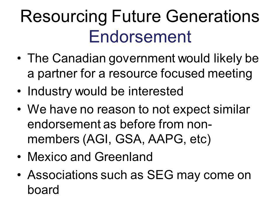 Resourcing Future Generations Endorsement