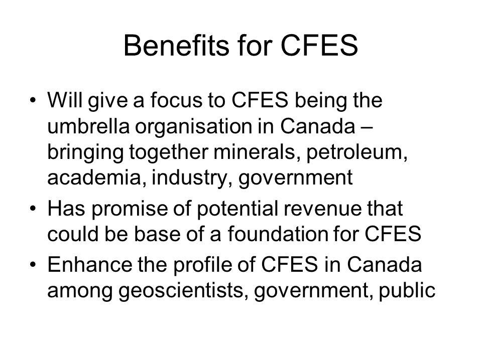 Benefits for CFES