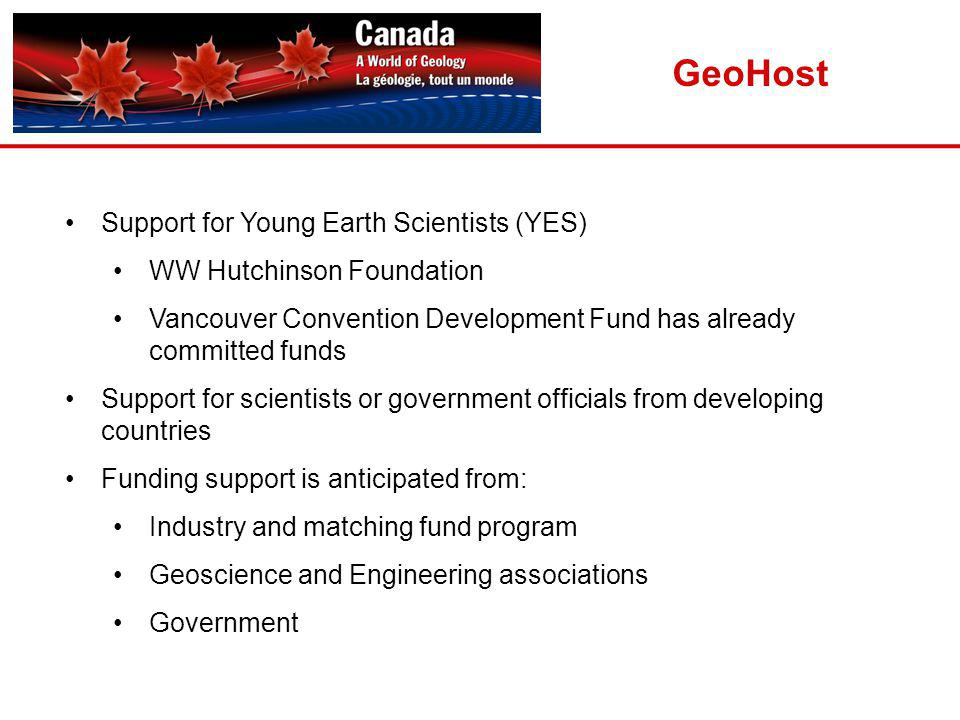 GeoHost Support for Young Earth Scientists (YES)
