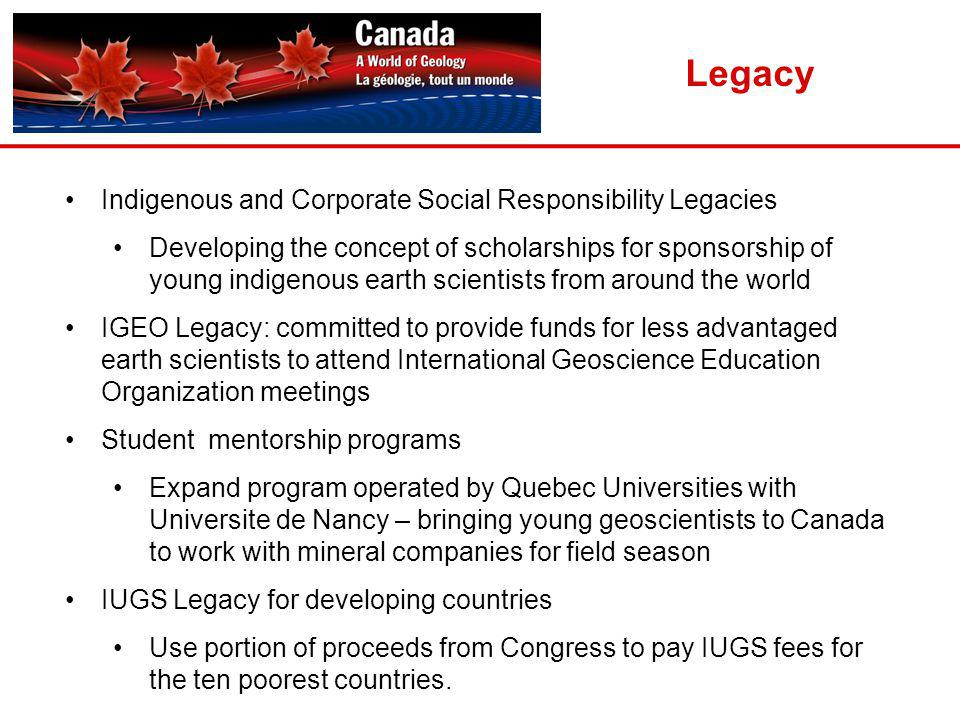 Legacy Indigenous and Corporate Social Responsibility Legacies