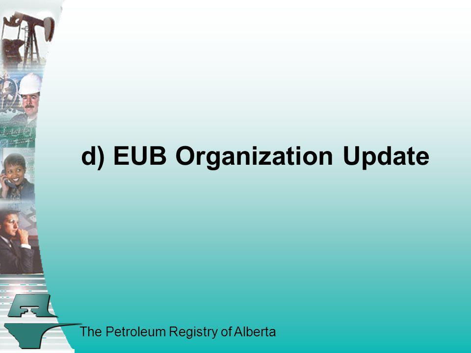 d) EUB Organization Update