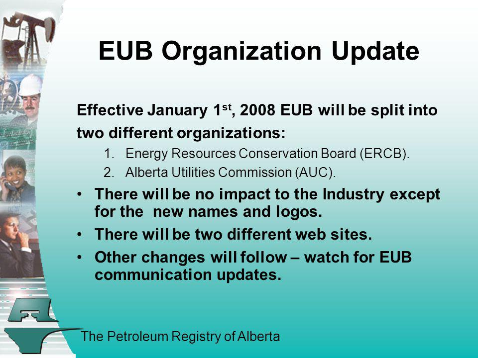 EUB Organization Update