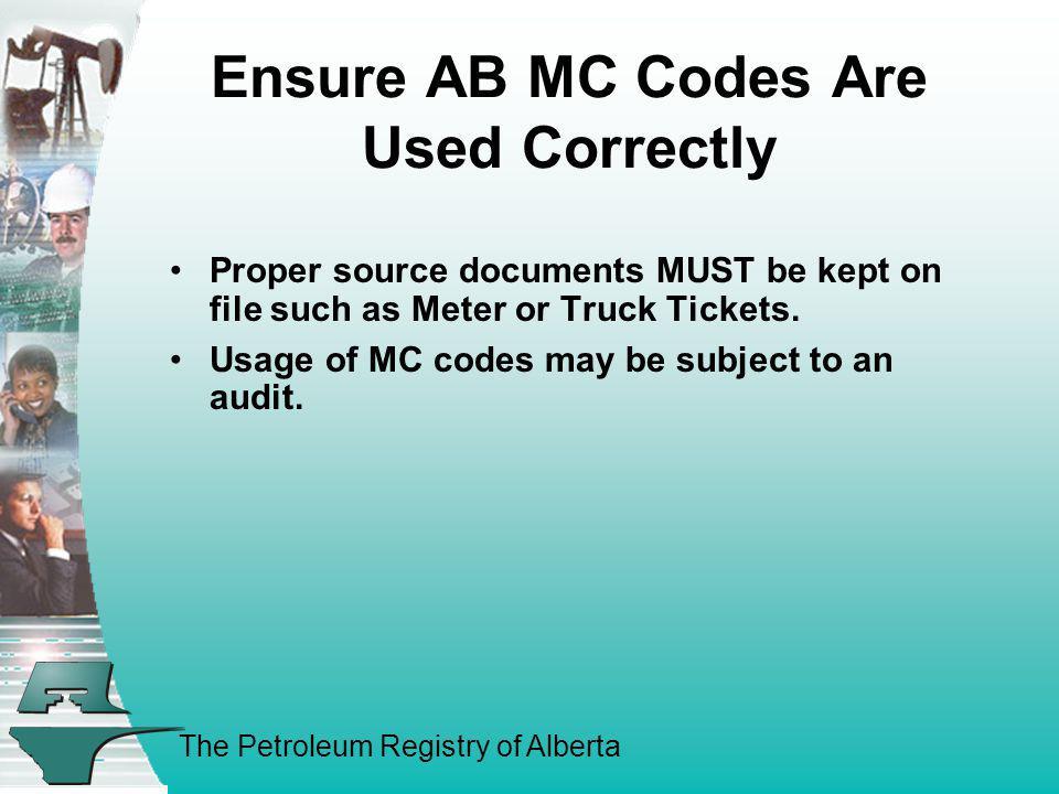 Ensure AB MC Codes Are Used Correctly