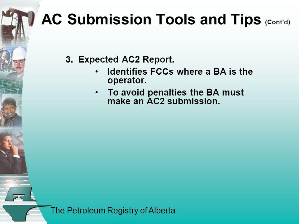 AC Submission Tools and Tips (Cont'd)