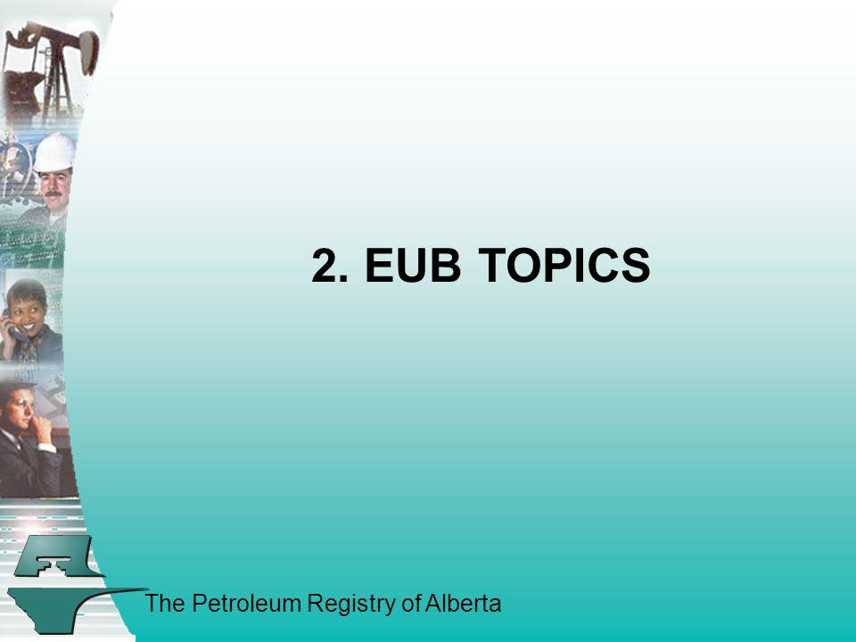 2. EUB TOPICS