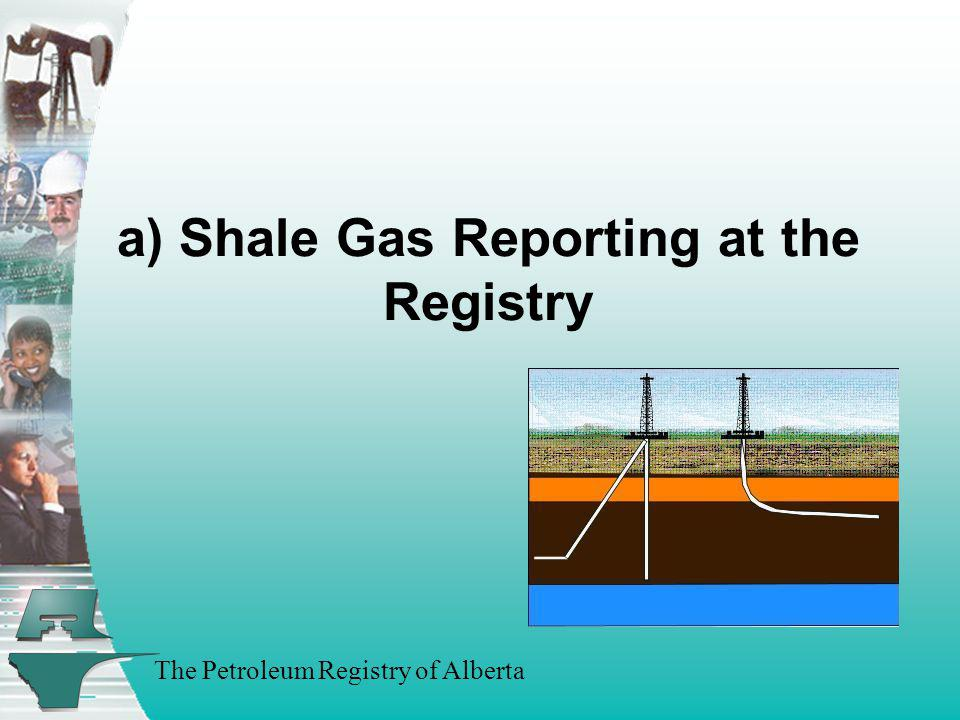 a) Shale Gas Reporting at the Registry