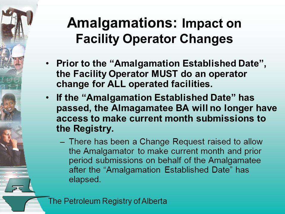 Amalgamations: Impact on Facility Operator Changes
