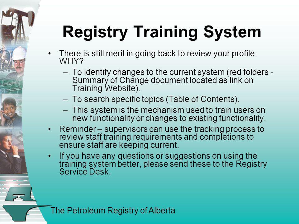Registry Training System