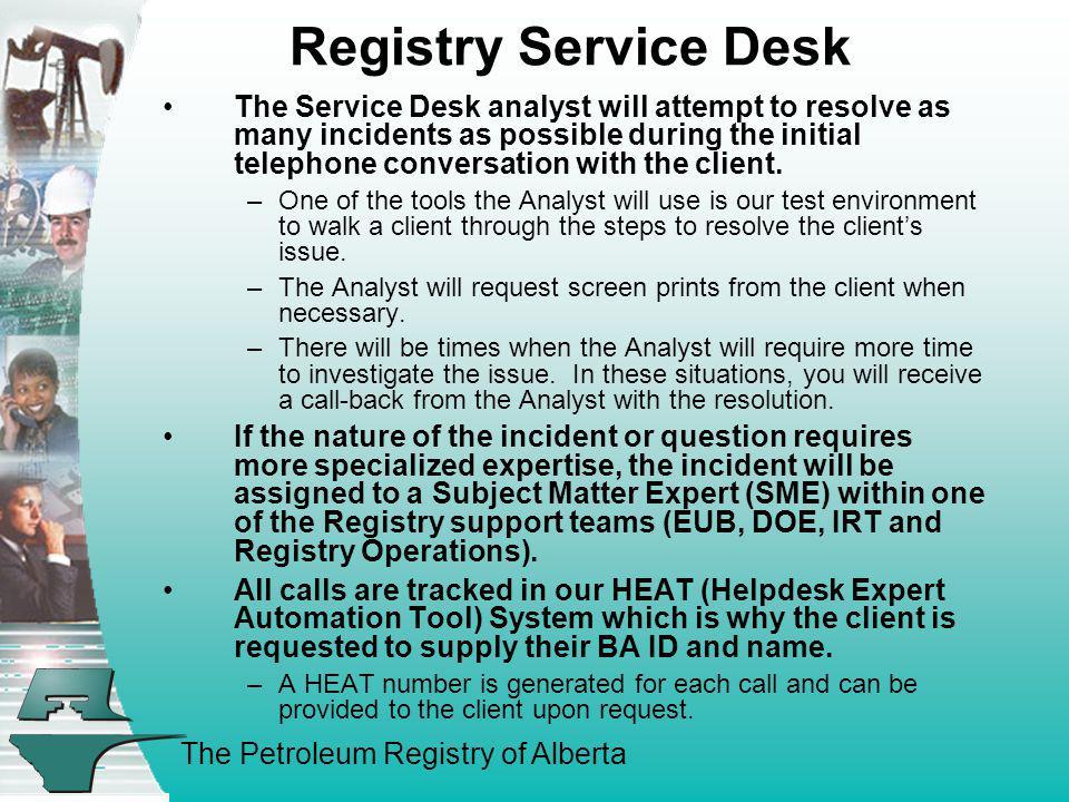 Registry Service Desk