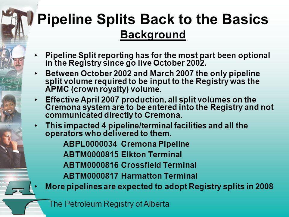 Pipeline Splits Back to the Basics Background