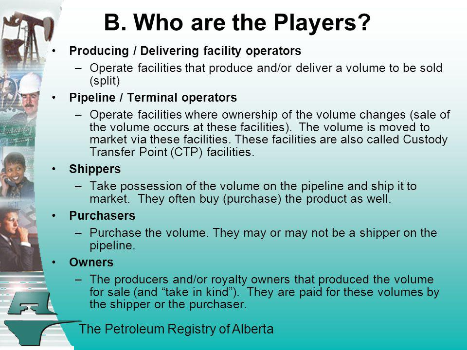 B. Who are the Players Producing / Delivering facility operators