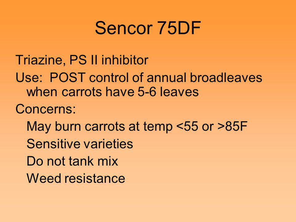Sencor 75DF Triazine, PS II inhibitor