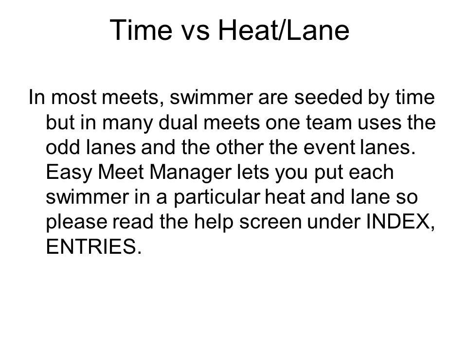 Time vs Heat/Lane