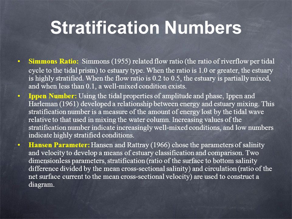 Stratification Numbers