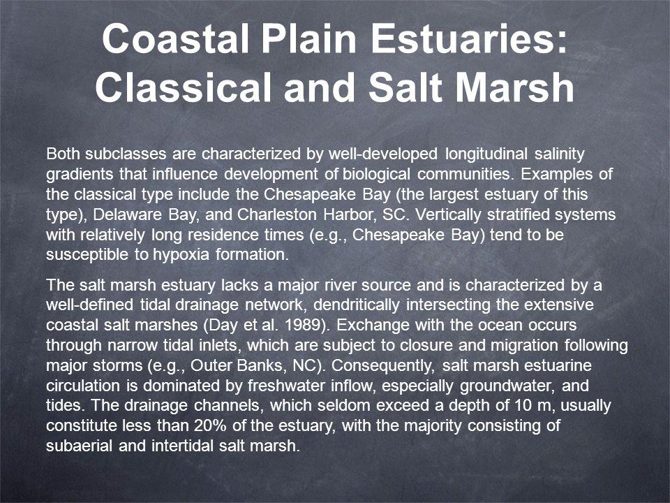 Coastal Plain Estuaries: Classical and Salt Marsh