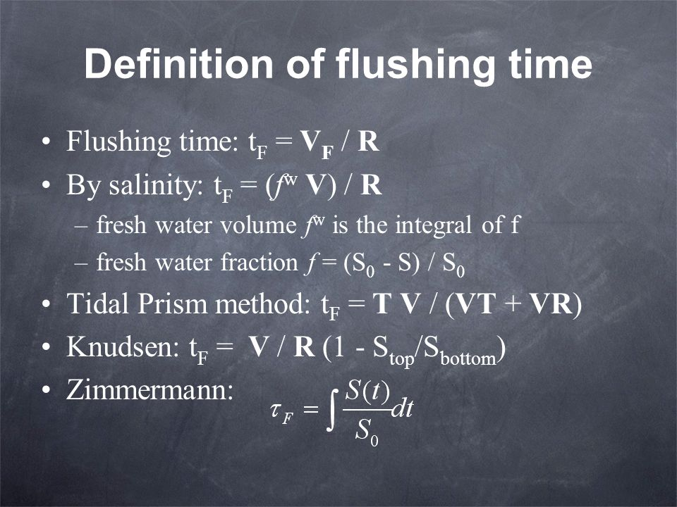 Definition of flushing time