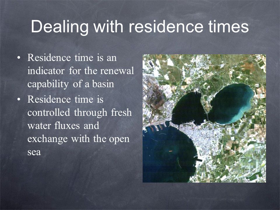 Dealing with residence times