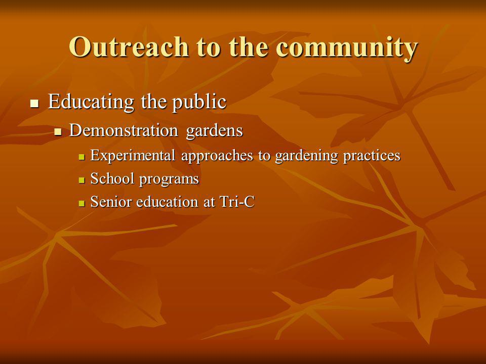 Outreach to the community