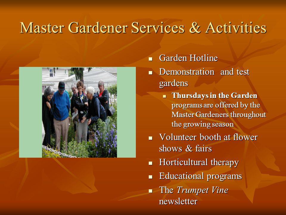 Master Gardener Services & Activities