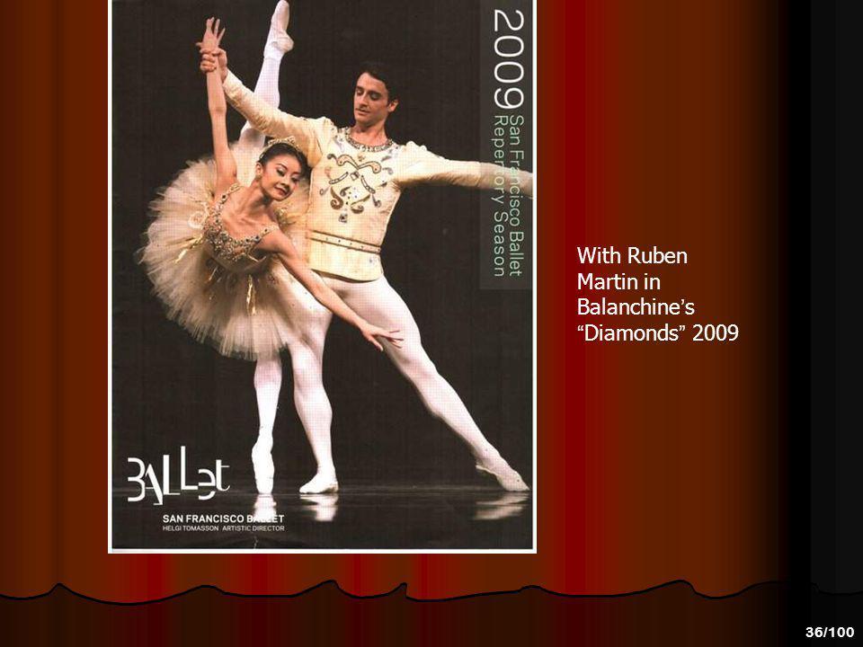 With Ruben Martin in Balanchine's Diamonds 2009
