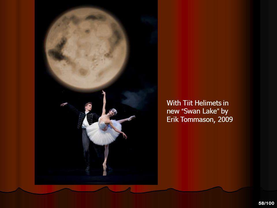 With Tiit Helimets in new Swan Lake by Erik Tommason, 2009