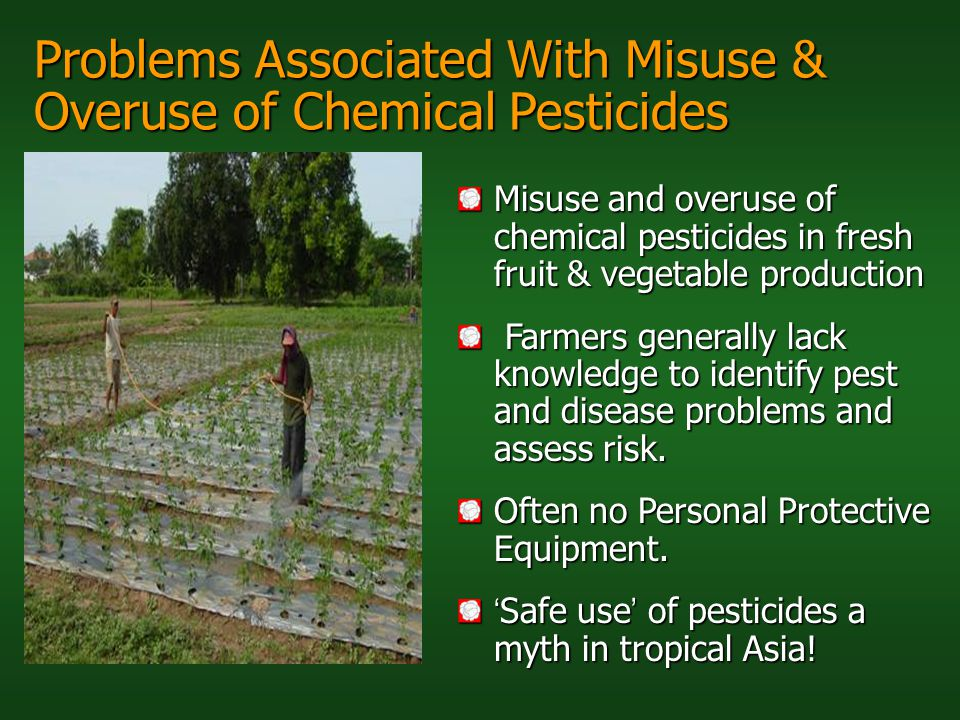 Problems Associated With Misuse & Overuse of Chemical Pesticides