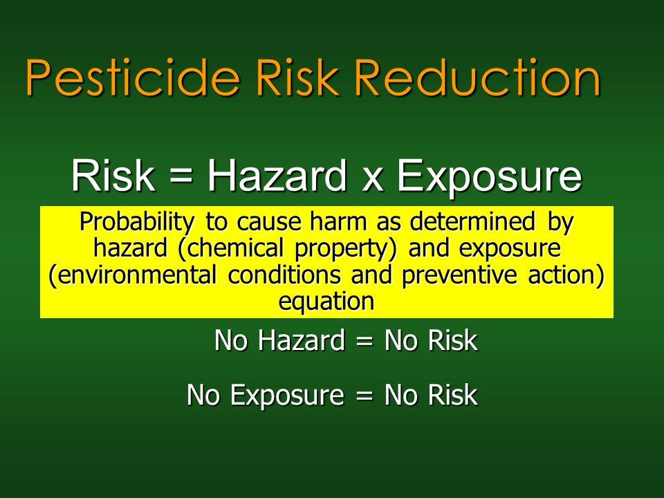 Risk = Hazard x Exposure