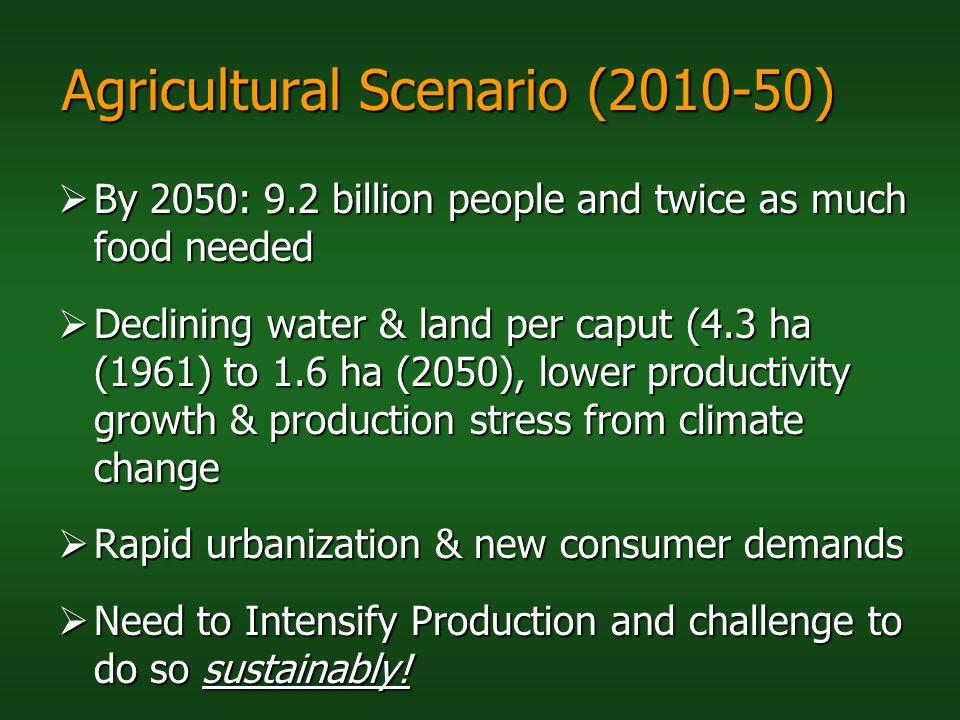 Agricultural Scenario (2010-50)