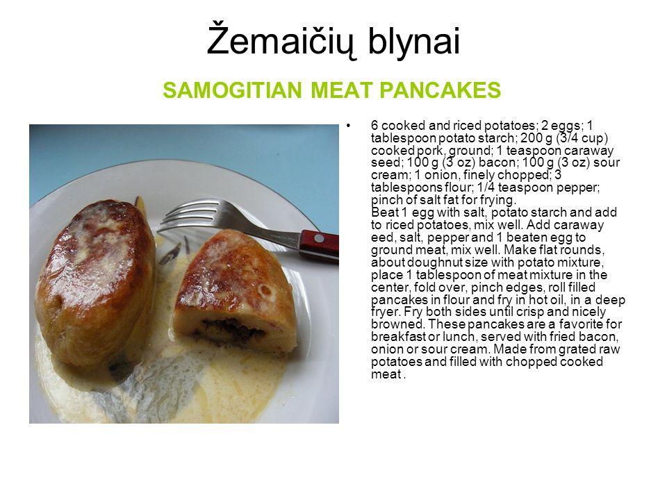 Žemaičių blynai SAMOGITIAN MEAT PANCAKES
