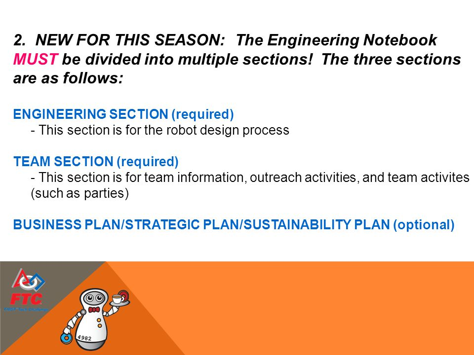 NEW FOR THIS SEASON: The Engineering Notebook