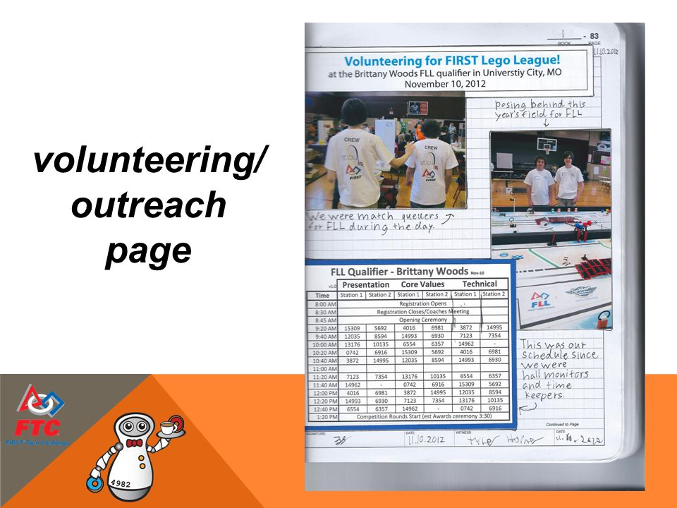 volunteering/ outreach page