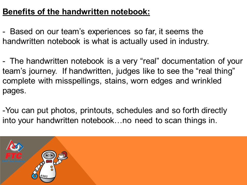 Benefits of the handwritten notebook: