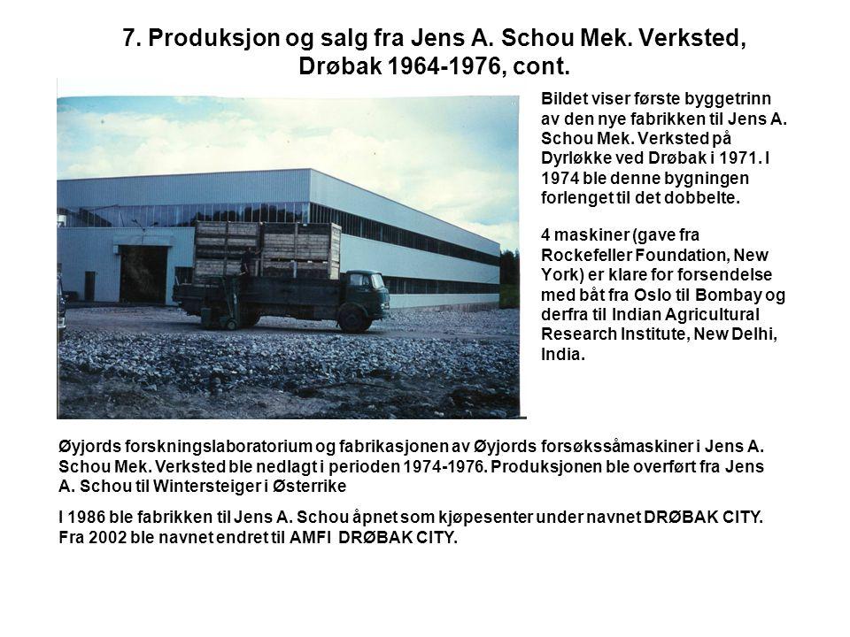 7. Produksjon og salg fra Jens A. Schou Mek
