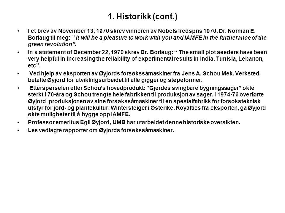 1. Historikk (cont.)