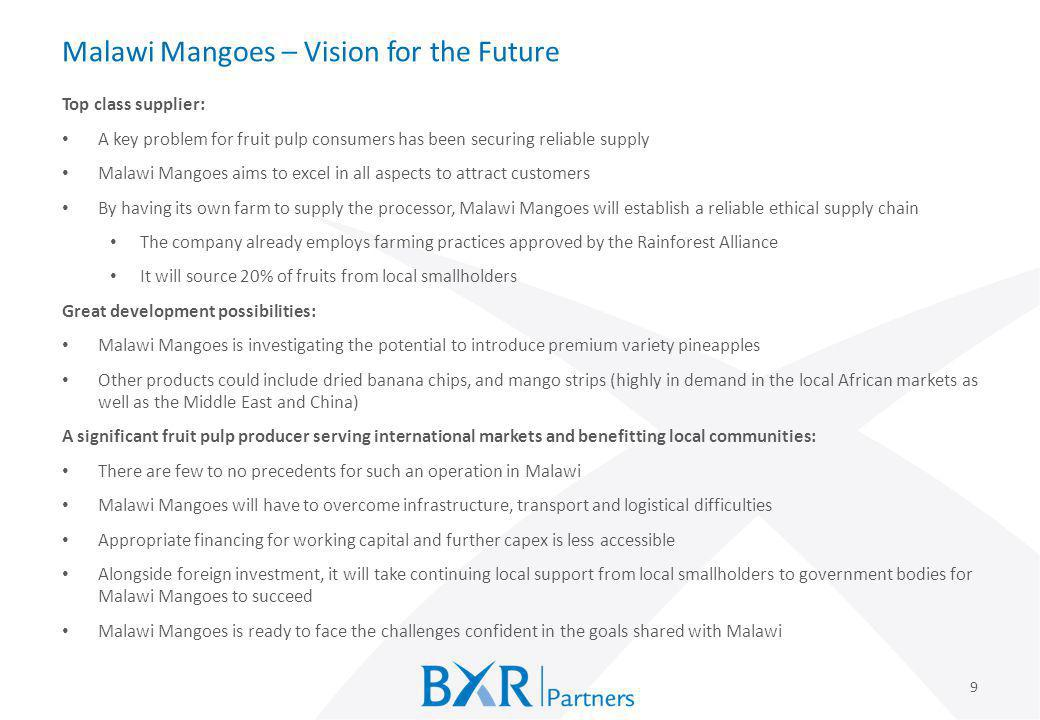 Malawi Mangoes – Vision for the Future