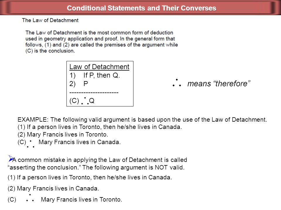 Conditional Statements and Their Converses