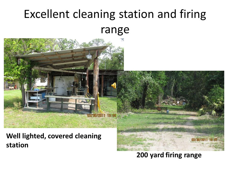 Excellent cleaning station and firing range