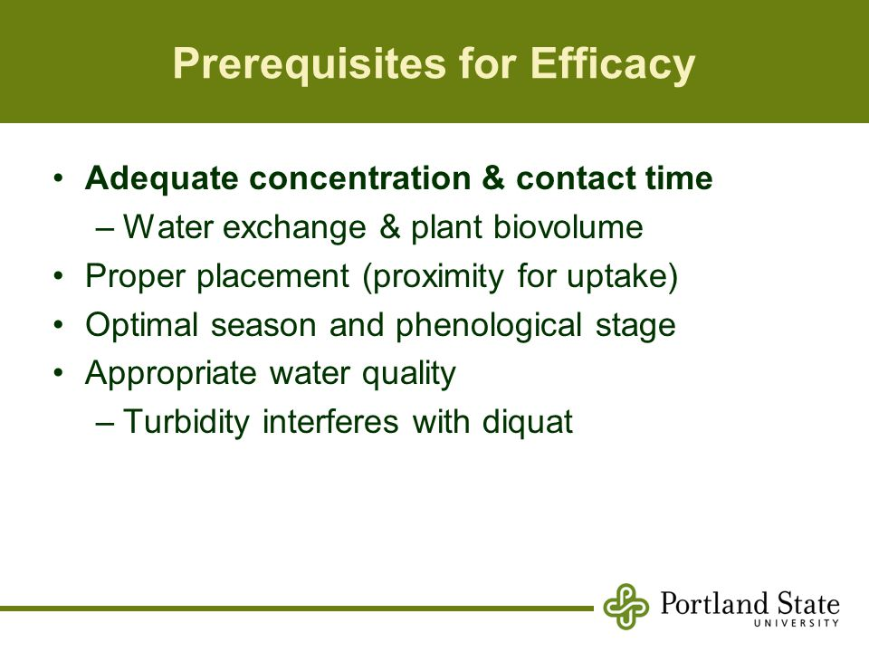 Prerequisites for Efficacy
