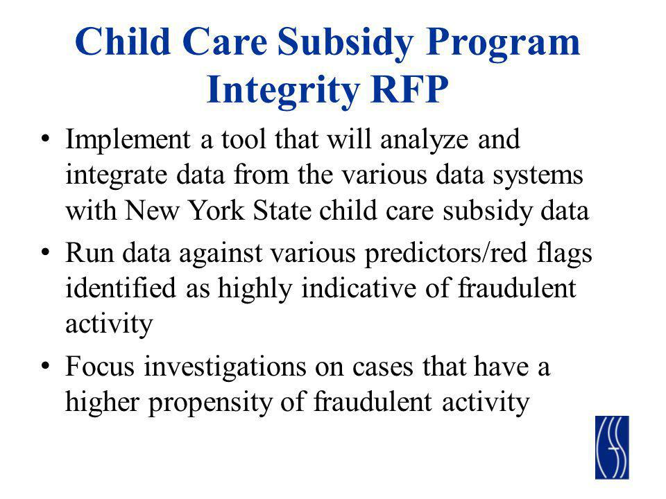 Child Care Subsidy Program Integrity RFP