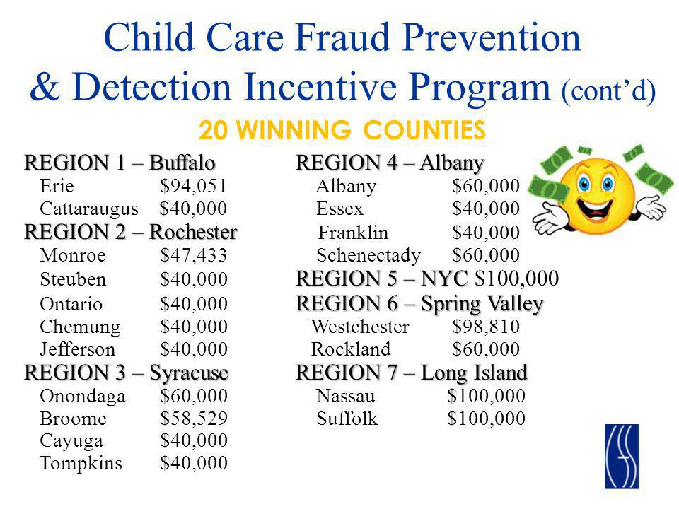 Child Care Fraud Prevention & Detection Incentive Program (cont'd)