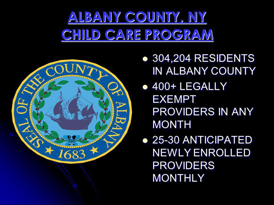 ALBANY COUNTY, NY CHILD CARE PROGRAM